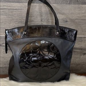 "Coach ""Laura"" leather tote bag"